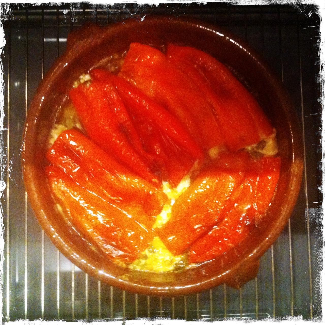 Warme gesunde Mahlzeit à la Balkan: mit Schafskäse gefüllte Paprika 1