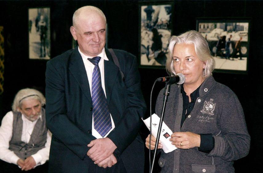 Anja Niedringhaus und Feim Demir in Sarajevo, 05. April 2012 (Foto: Didijer Torse)