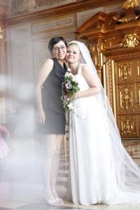 Nerma und ich am Tag meiner Hochzeit (Foto: Uwe Körner)