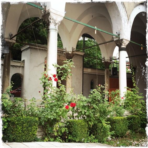 Ein wunderschöner Innenhof befindet sich in der...