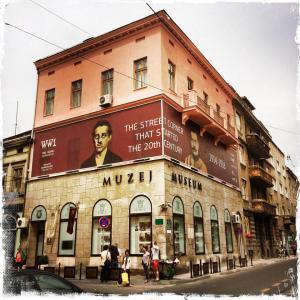 Die Stelle in Sarajevo, an dem das Attentat passierte (Foto: Balkanblogger)