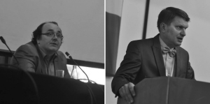 Die Gastgeber Prof. Dr. Vahidin Preljevic und  Prof. Dr. Clemens Ruthner