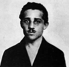 Portrait des Gavrilo Prinzip aus seiner Haft