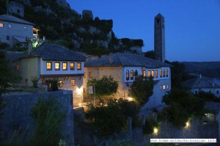 Pocitelj bei Nacht - hier findet der Besucher seine Ruhe in einem außergewöhnlichen Ambiente