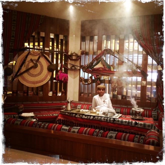 Der Duft von Weihrauch in der Lobby des Hotels Al Bustan (Foto: Balkanblogger)